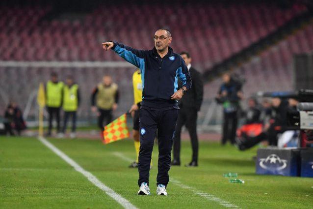 """Sarri: """"Insigne è un campione, peccato non essere padroni del nostro destino in Champions"""""""