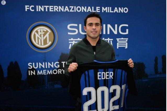 Ufficiale, Inter: Eder rinnova fino al 2021