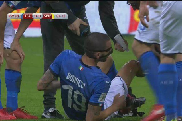 """Bonucci, botta al ginocchio ma resiste. """"Mister, ce la faccio"""""""