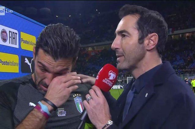 Le lacrime di Buffon, all'addio con la Nazionale