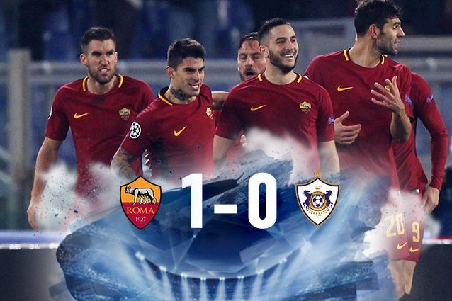 Roma qualificata agli ottavi di Champions da prima del girone