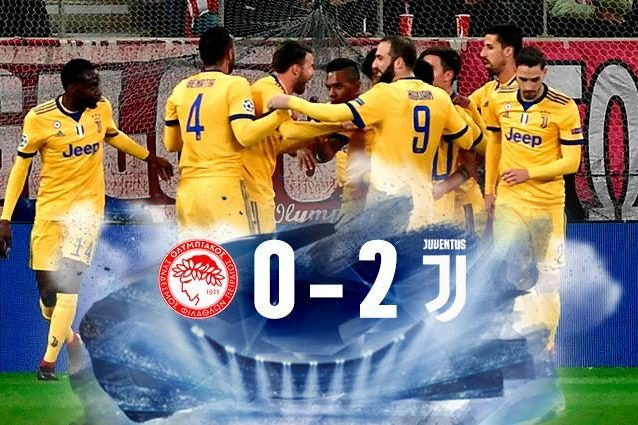 Olympiacos Juventus (0-2): highlights e gol della partita (Champions League girone D)