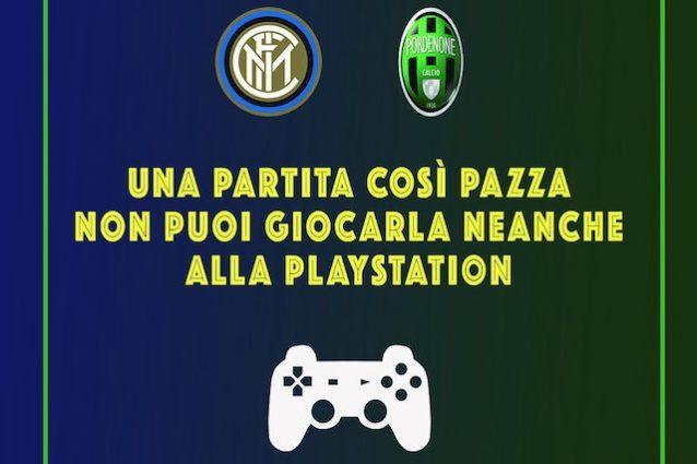 """Pordenone la partita """"pazza"""" con l'Inter e l'appello a FIFA e PES"""