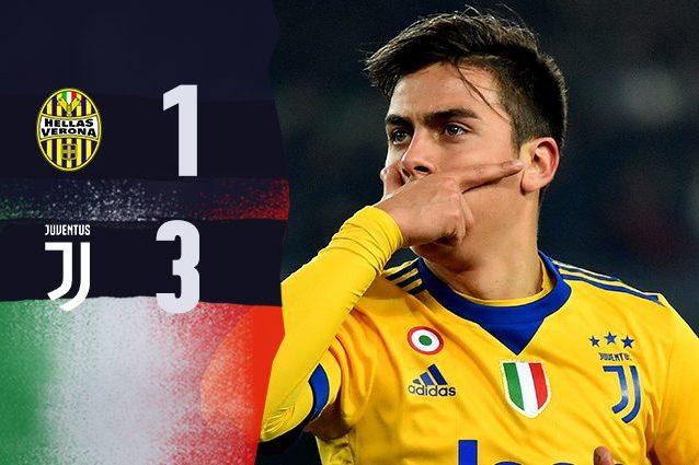 Dybala si riprende la Juve, Hellas ko al Bentegodi: 1-3