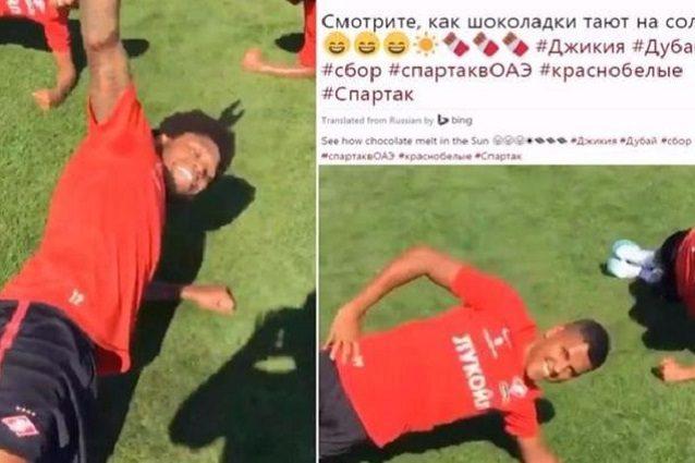 """""""Come cioccolato al sole"""" lo Spartak Mosca scherza ma scattano le accuse di razzismo"""