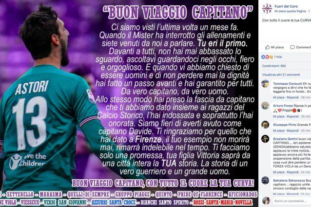 Tragedia Astori, De Nicolo dopo l'autopsia: