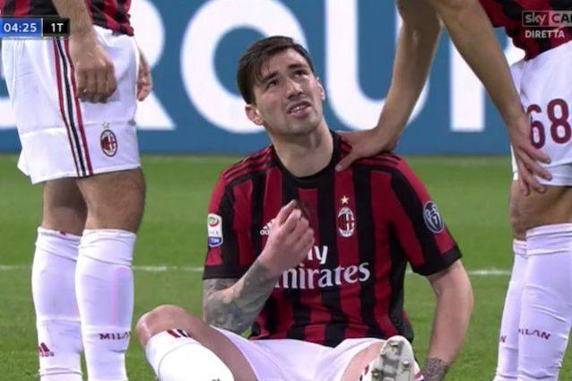 Infortunio Romagnoli, il comunicato del Milan: