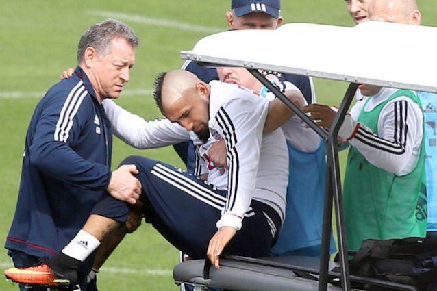 Infortunio Vidal, intervento alla caviglia