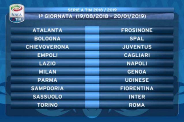Serie A 2018/19, il calendario della Roma