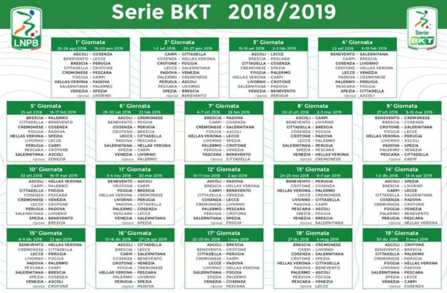 Calendario Salernitana.Serie B 2018 2019 Tra Denunce E Polemiche Ecco Il