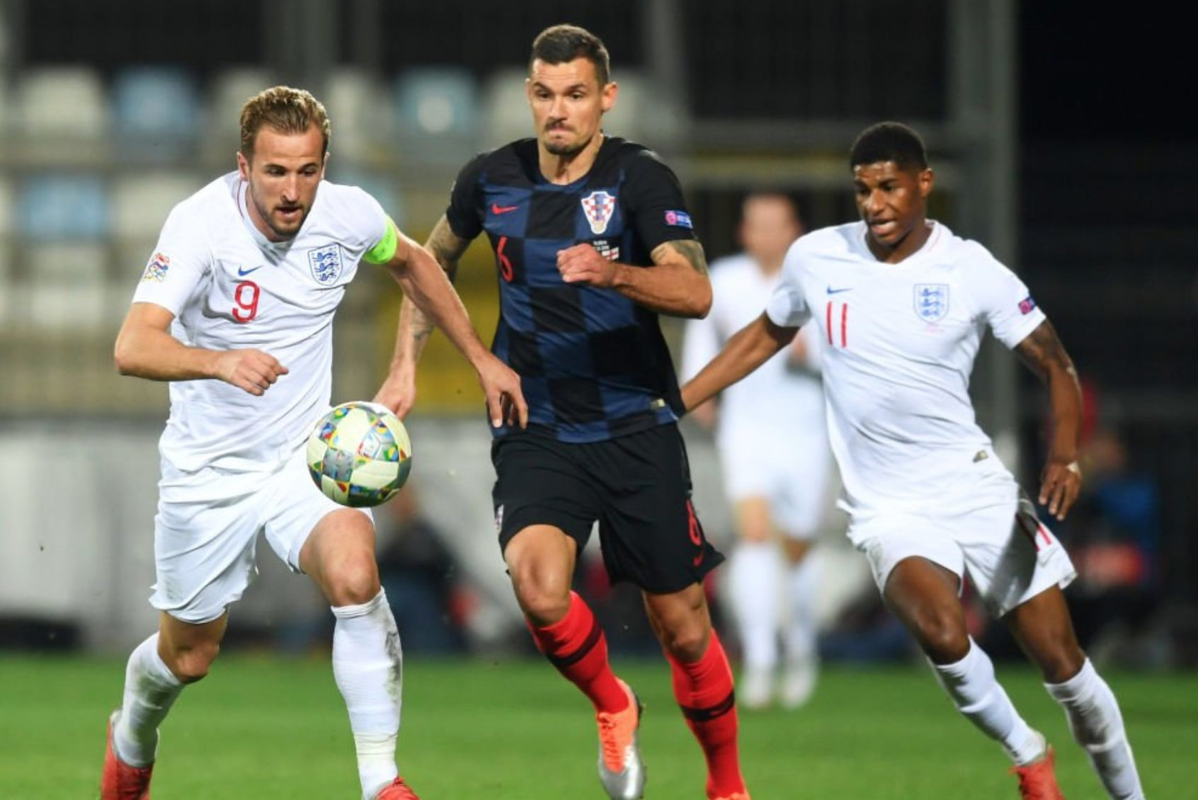 Harry Kane ha colpito un palo contro la Croazia.