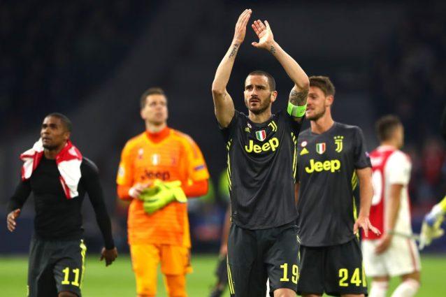 Guaio Juventus, si ferma Chiellini: l'Ajax è a forte rischio