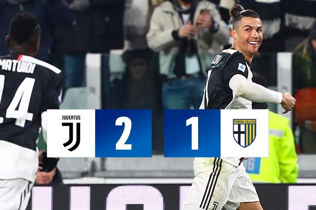 Cristiano Ronaldo lancia la Juventus in fuga: Parma battuto
