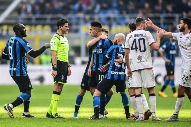 Inter Cagliari, un altro espulso nel finale: cartellino ross