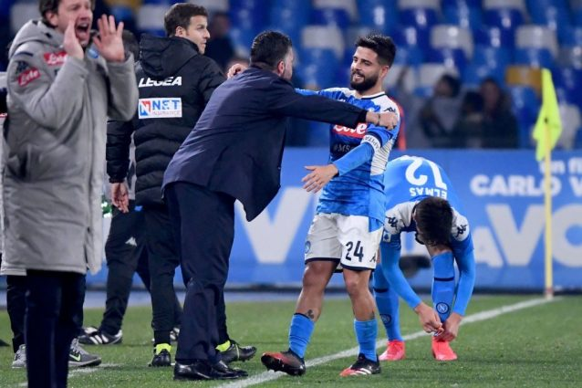Napoli Juventus 2 1, Zielinski e Insigne stendono Sarri. Inu