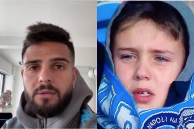 Insigne, videomessaggio per il bambino in lacrime al San Pao