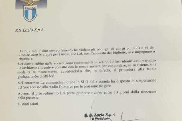 Comunicato Lazio: chiesti i danni ai tifosi che fecero il sa