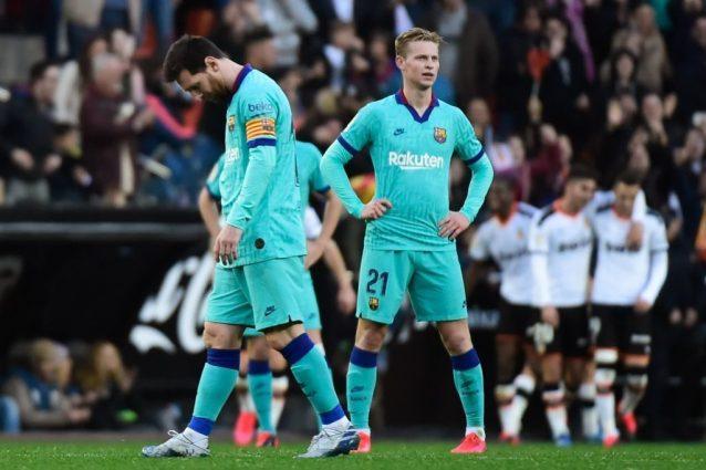 Tracollo del Barcellona a Valencia, il Real può sorpassarlo
