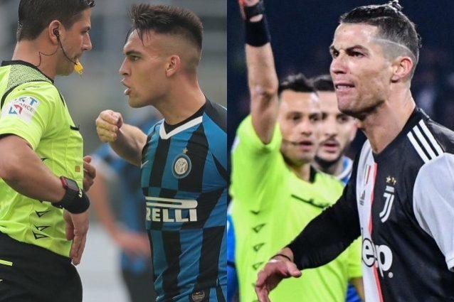 Lautaro espulso, Ronaldo no: i diversi metri di giudizio deg