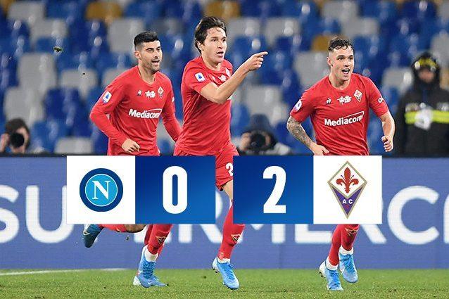 Napoli Fiorentina 0 2: Chiesa Vlahovic, la Viola non perdona