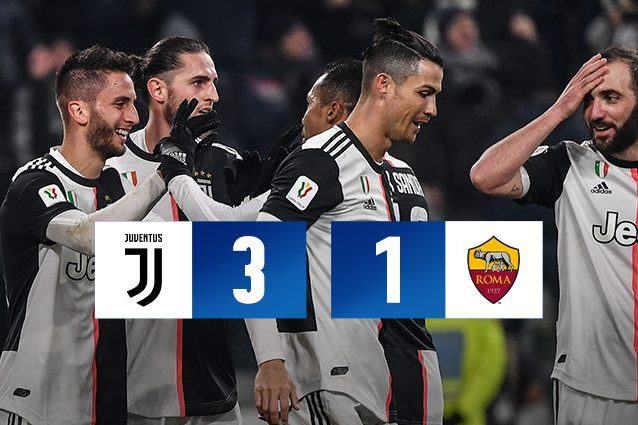 Juventus famelica anche in Coppa Italia: batte la Roma 3 1 e