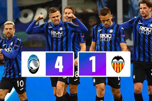 Atalanta Valencia 4 1: Gol e spettacolo, dominio totale dell