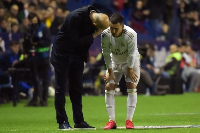 "Zidane sull'infortunio di Hazard: ""Non so se lo rivedremo in"