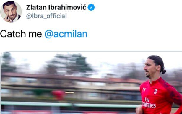 """Milan prendimi"": il tweet di Ibrahimovic fa sognare i tifos"
