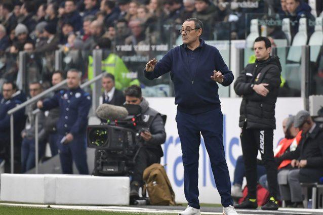 """Sarri: """"Il ritorno di Chiellini? S'è messo in campo da solo, me lo sono ritrovato accanto"""""""