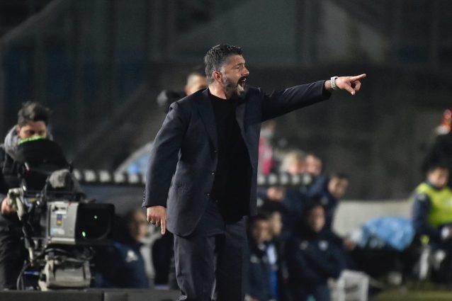 """Napoli, Gattuso: """"Obiettivo 40 punti, il Barcellona? Non ci"""