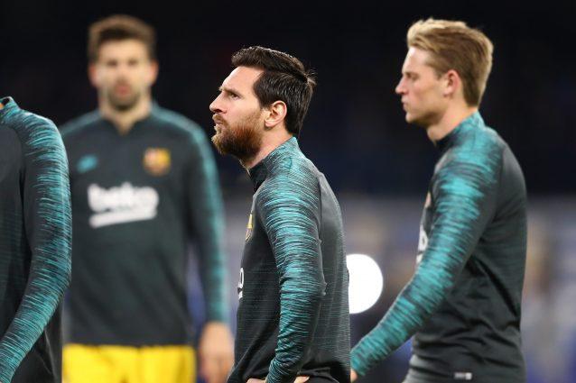Napoli Barcellona, Messi entra in campo al San Paolo e parto