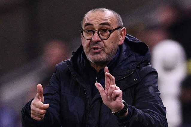 """Lione-Juventus, Sarri critica l'arbitro: """"In Italia ci sarebbero stati due rigori per noi"""""""
