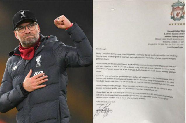 """Liverpool, bambino scrive a Klopp: """"Fai perdere la tua squad"""