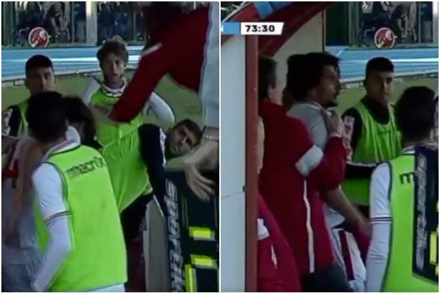 Serie D, l'allenatore Magrini dà uno schiaffo ad un suo calc