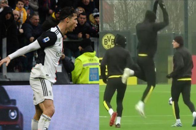 Haaland come Cristiano Ronaldo? Intanto ne imita l'esultanza
