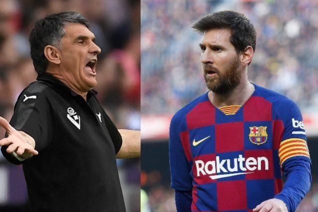 """L'allenatore dell'Eibar Mendilibar attacca Leo Messi: """"Lui è"""