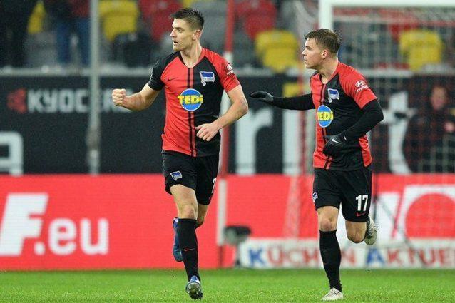Piatek segna il suo primo gol in Bundesliga: Dusseldorf Hert