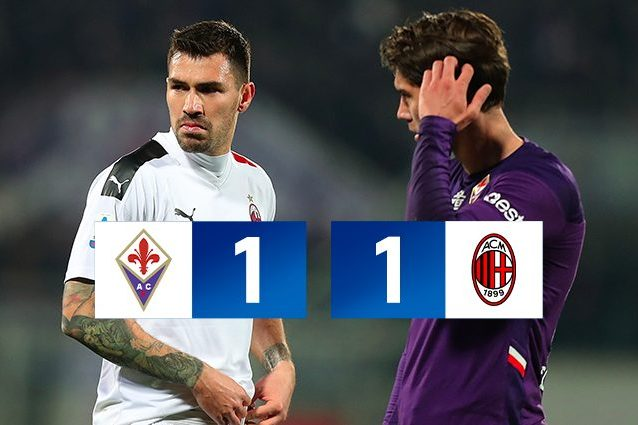 Fiorentina Milan 1 1: avanti a adagio, a Rebic risponde Pulg